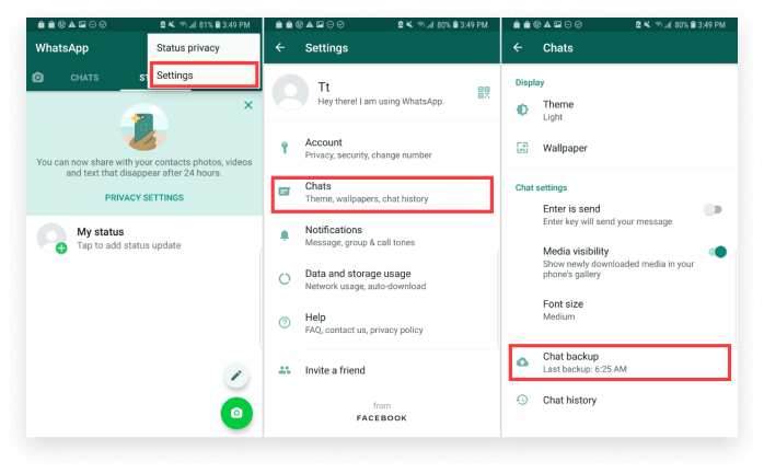 use google drive to transfer whatsapp