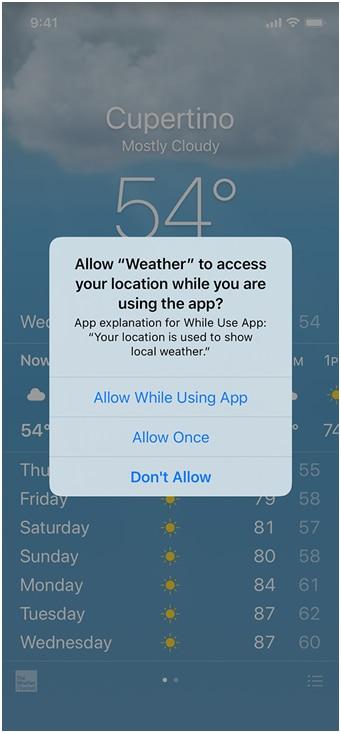 wetter app ios 4