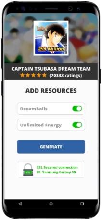 captain tsubasa mod apk cheat