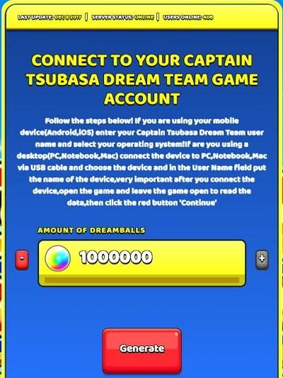 captain tsubasa unbegrenzte bälle hack