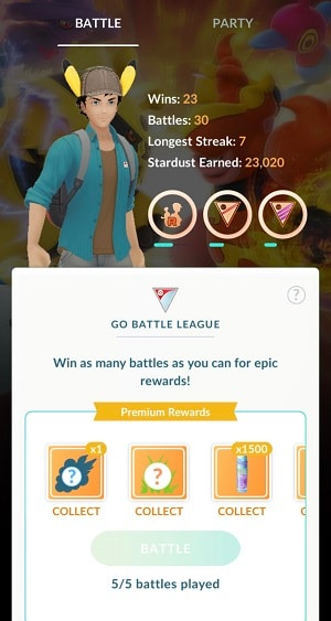 collecting pokemon pvp rewards