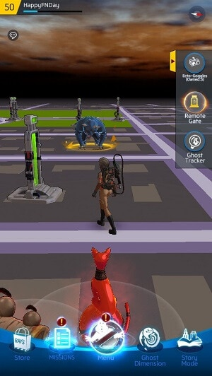 Spawning ghosts in Ghostbusters World