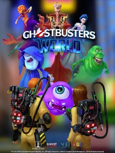 The Ghostbuster World mobile game splash screen