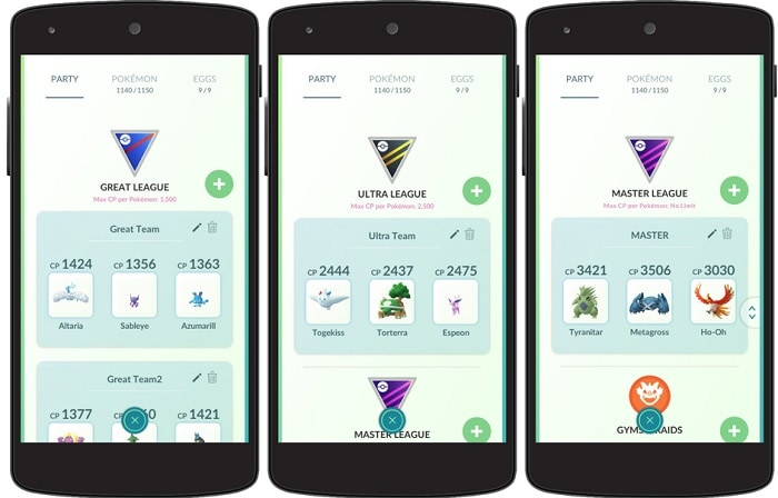 leagues in pokemon pvp