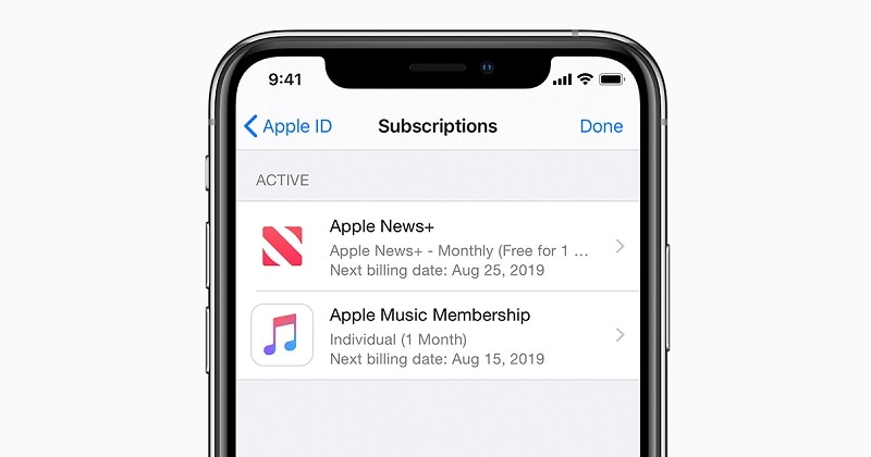 manage iphone subscriptions
