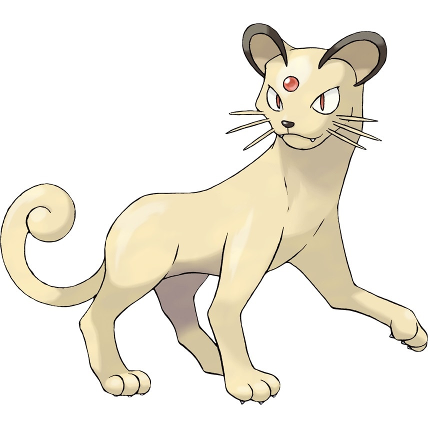 Persian, the first Pokemon that Giovanni will use