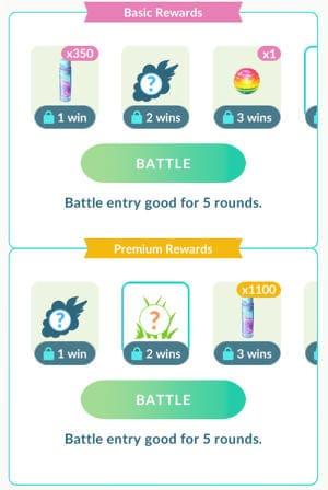 pokemon battle rewards for ranks
