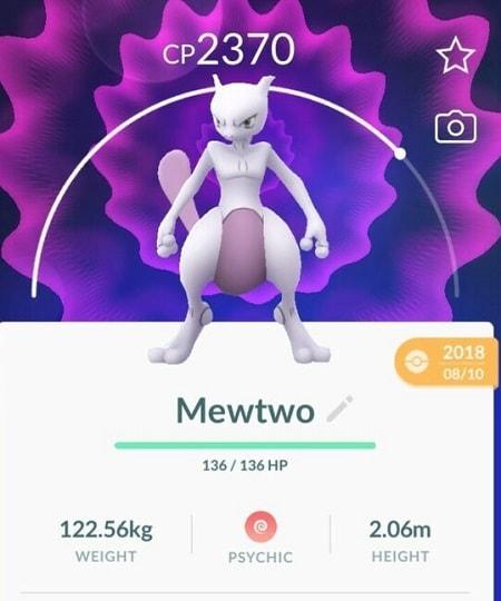 pokemon go mewtwo stats