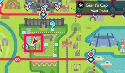 pokemon map giants cap