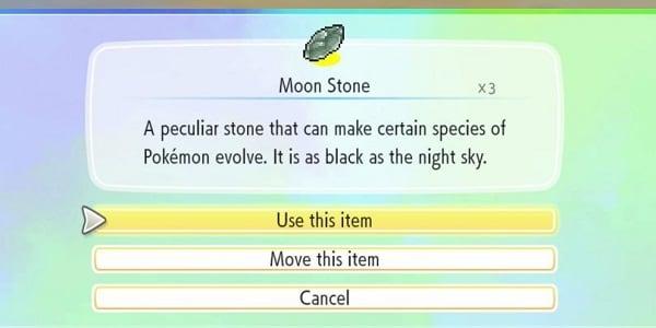 pokemon use moon stone