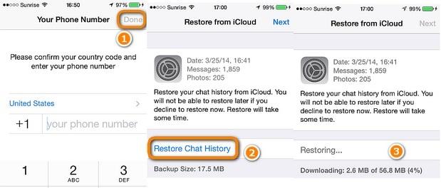 iPhone Recover WhatsApp Backup