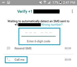 set up whatsapp