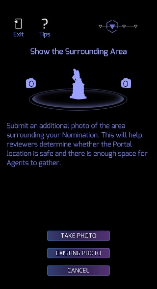 Take an additional photo of the suggested Ingress Portal surroundings