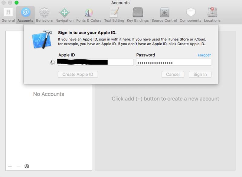login your apple ID