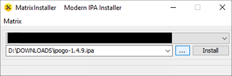 install package using matrix installer