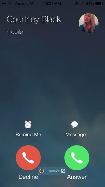مسجل مكالمات آي فون
