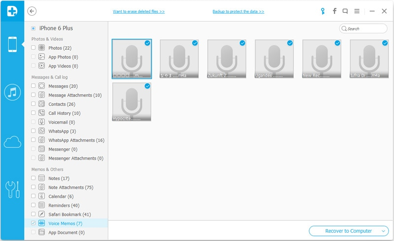 recover voice memos from iPhone directly