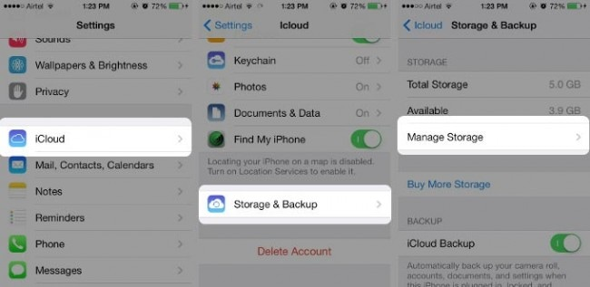 restore icloud from backup without reset