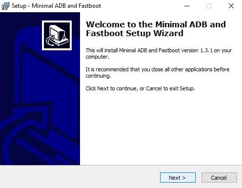 Minimal adb and fastboot setup
