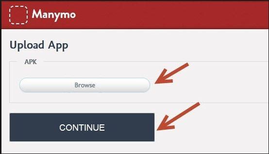 stap 3 om online in te loggen Kik door Manymo