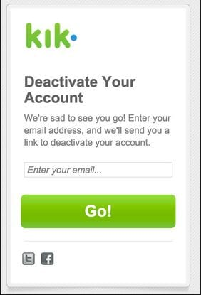 step 4 to deactivate Kik
