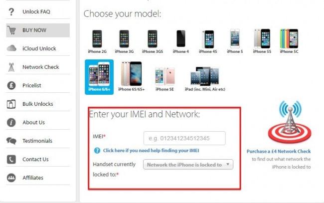 SIM unlock service
