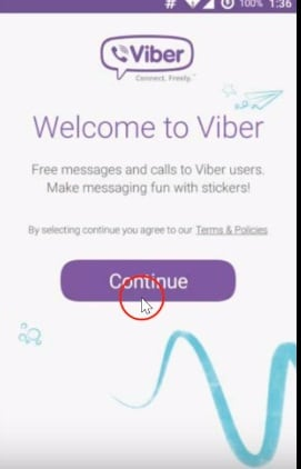 deactivate Viber account on Android finished