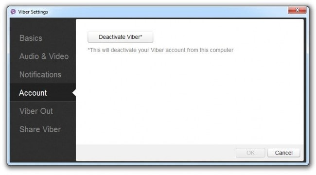 step 5 to change Viber number on PC