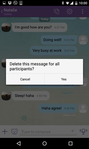 delete Viber messages