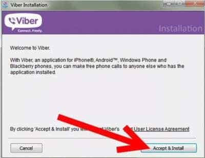 start to free download and install Viber for PC