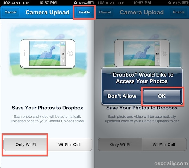 how to backup photos on iPhone with Dropbox