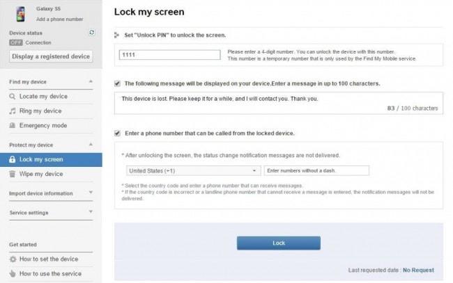 samsung lock my screen