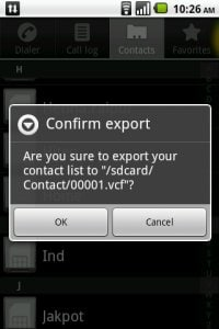 export samsung contacts
