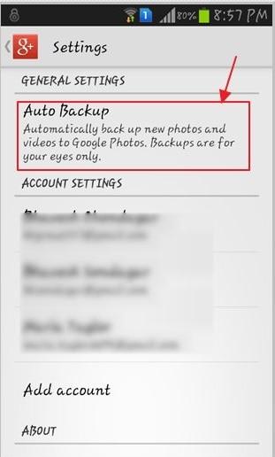 turn off samsung auto backup