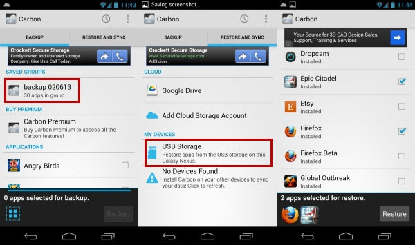 samsung backup with helium
