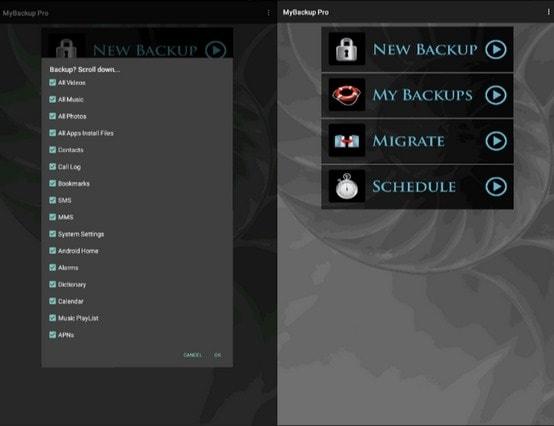 android backup app mybackup