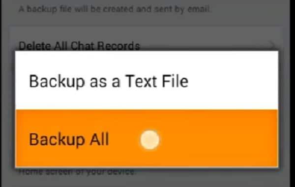backup line chat history
