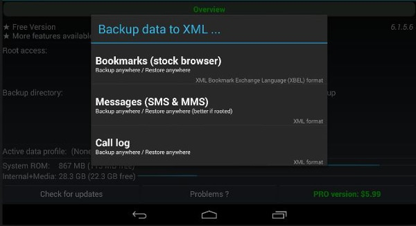 titanium backup android phone