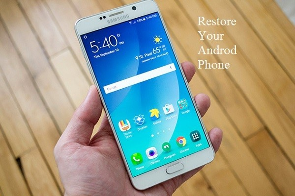 restore yur android phone