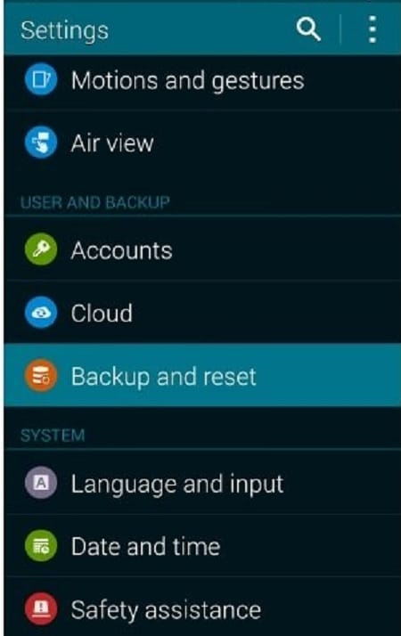 restore from google backup