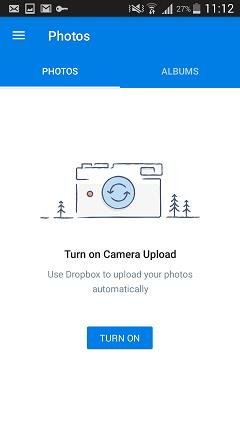 dropbox backup android photos