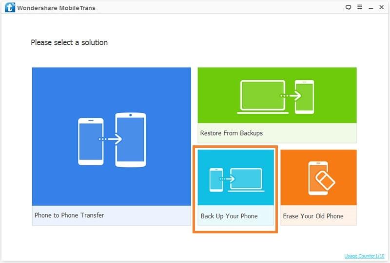 mobiletrans backup android photos