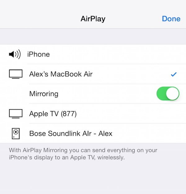 airplay video van quicktime