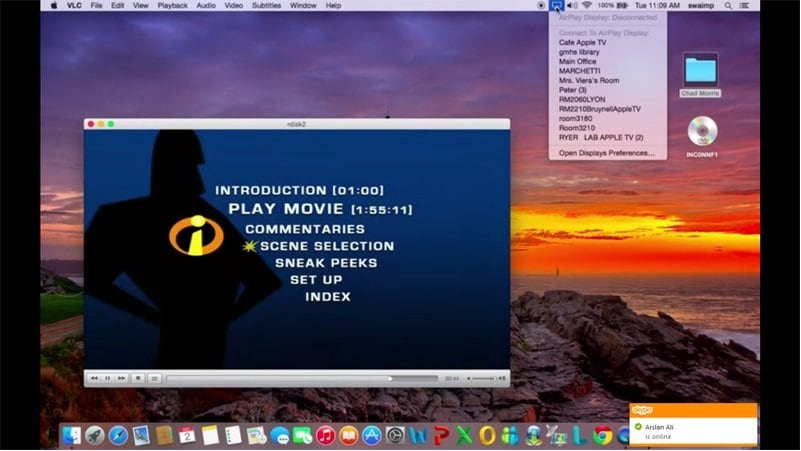 vlc airplay  apple tv