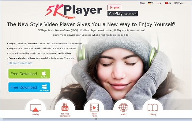 5kplayer delen van iphone scherm