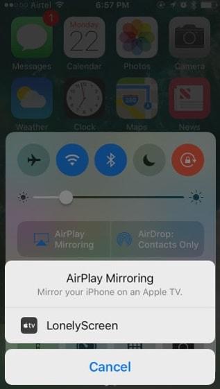 mirror iphone scherm naar pc met lonelyscreen