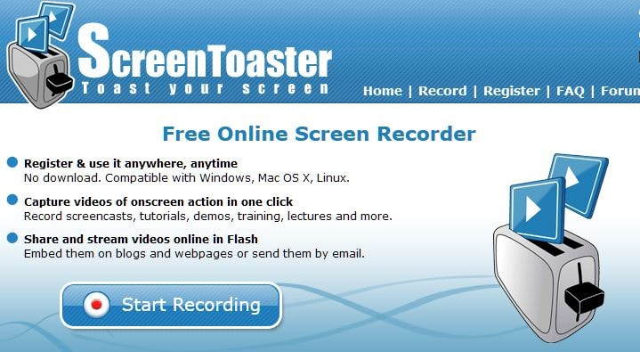 Online Screen Recorder - ScreenToaster
