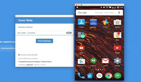 mirror android to mac