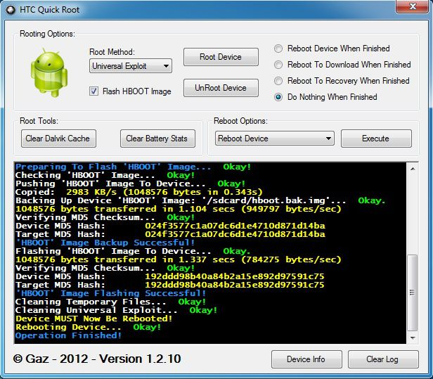root htc one with htc quick root toolkit