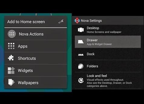 hide apps with nova launcher prime